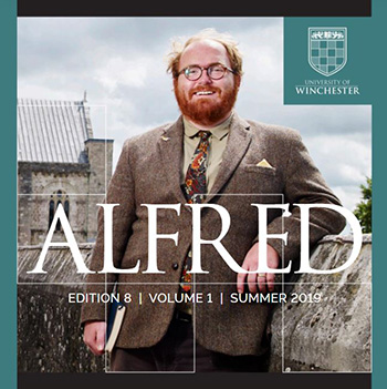 Front cover of the student journal Alfred, edition 8