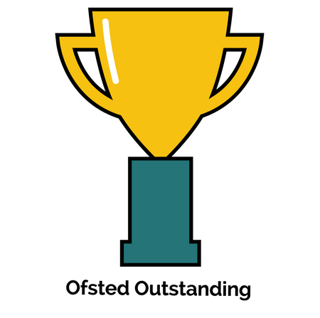 Trophy for Oftsed outstanding award