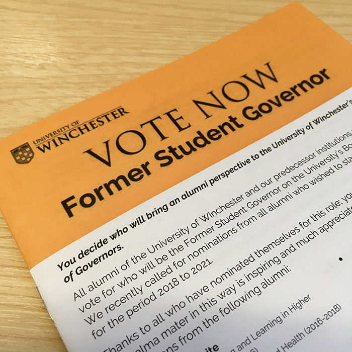 Vote now- Former Student Governor election