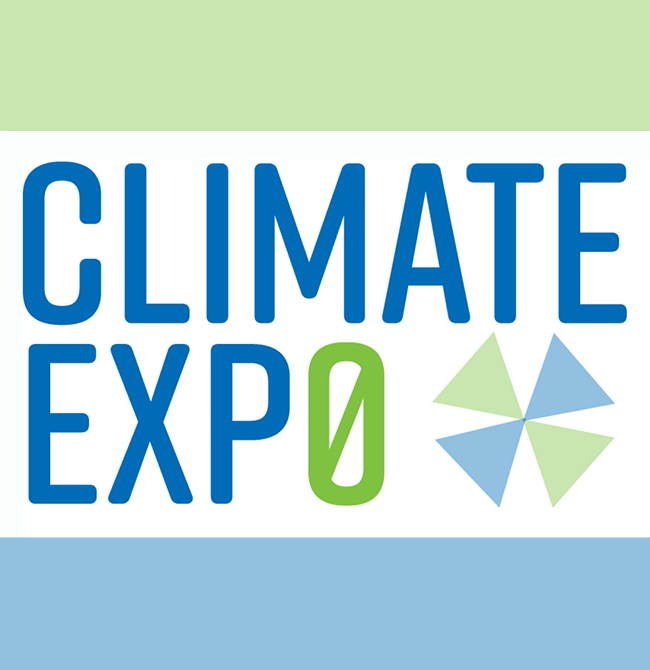 Logo for climate exp0 2021