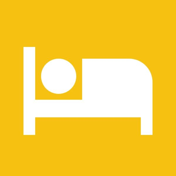 sleeping in a bed icon