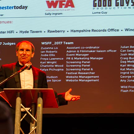 Winchester Film festival webpage image
