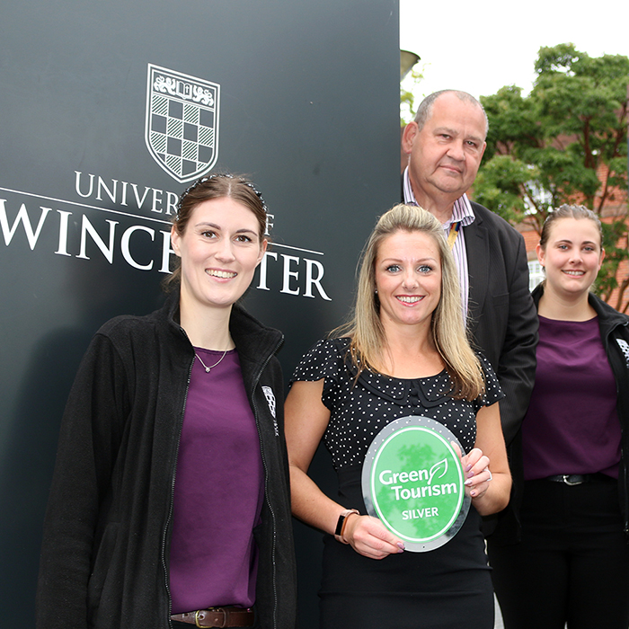 University of Winchester boosts sustainable credentials with Green Tourism Silver Award