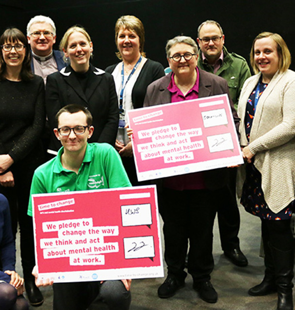 University of Winchester signs Time to Change pledge to change how we all think and act about mental health