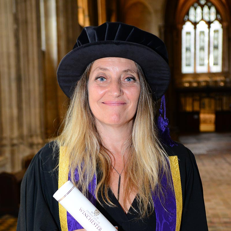Louise Shorter with her honorary award at Graduation 2018