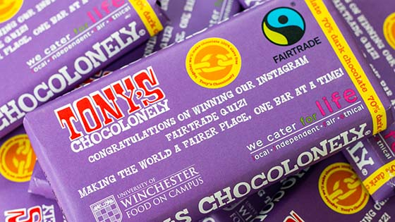 Chocolate bars in purple wrappers