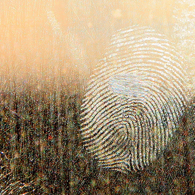 Forensic investigation at Winchester: a fingerprint on glass