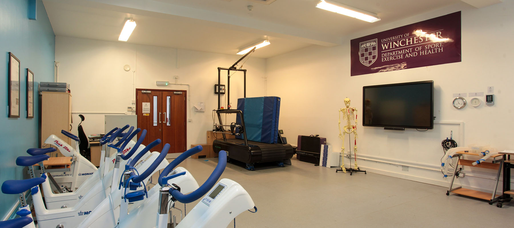 Research and Teaching facilities at the University of Winchester: one of our state-of-the-art Sport Science laboratories