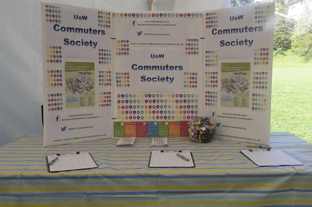 Commuters society freshers fair stand