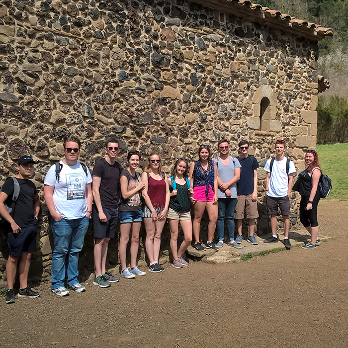 Students on a Field Trip in Barcelona